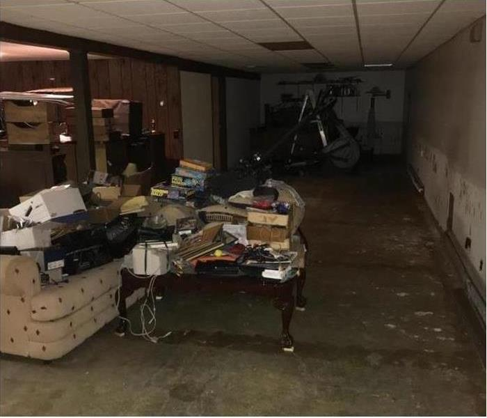 WATER DAMAGE IN BASEMENT Before